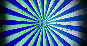 Abstract sunburst and rays comic cartoon blue white green with little glitter shapes