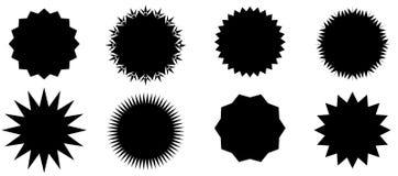 Abstract Sunburst vector badges set. Isolated, on white background vector illustration