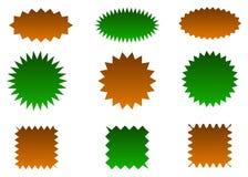 Abstract Sunburst vector badges set. Isolated, on white background stock illustration