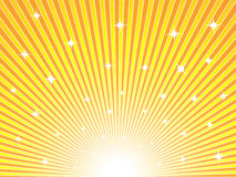 Abstract sunny background. Abstract yellow and orange sunny vector background Stock Image