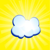 Abstract sunny background with clouds Stock Photos