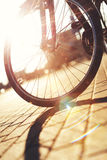 Abstract sunny bike Stock Images