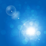 Abstract Sunny Blue Background Royalty-vrije Stock Afbeelding