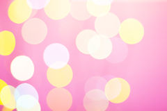 Abstract sunny bokeh on pink Stock Photography