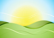 Abstract sunny landscape Stock Image