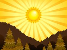 Abstract sunny landscape theme 2 Stock Image