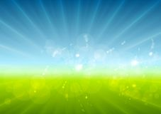 Abstract sunny landscape vector background Royalty Free Stock Photography
