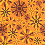 Abstract sunny seamless pattern Stock Images