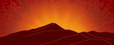 Abstract sunrise background Royalty Free Stock Image