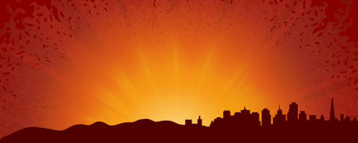 Abstract sunrise background Stock Photography