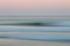 Abstract sunrise ocean background with blurred panning motion Stock Images