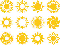 Abstract suns Royalty Free Stock Photography