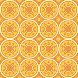 abstract suns pattern Royalty Free Stock Photos