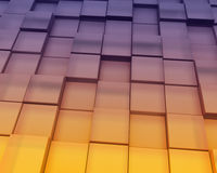 Abstract Sunset Blocks Background Stock Image