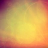 Abstract Sunset on sky with lenses flare. Royalty Free Stock Photography
