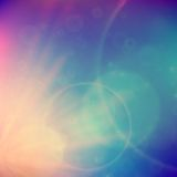 Abstract Sunset on sky with lenses flare. Royalty Free Stock Images