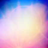 Abstract Sunset on sky with lenses flare. Royalty Free Stock Photos
