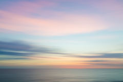 Abstract sunset sky and ocean nature background. Abstract sunset sky and ocean nature background with blurred panning motion Stock Photography