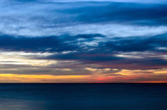 Abstract sunset. Very long exposure. Stock Photos