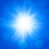 Abstract Sunshine Blue  Background Royalty Free Stock Photos