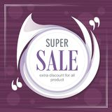 Abstract super sale with modern background stock illustration