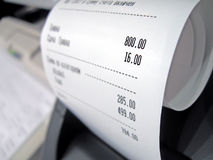 Abstract supermarket check with numbers, Stock Images