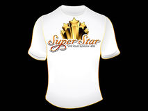 Abstract superstar tshirt Stock Photography
