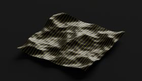 Abstract Surface. 3D Rendering. Abstract 3d rendering of smooth surface with ripples, cloth with waves, modern background design for poster, cover, branding Stock Photo