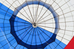 Abstract surface texture of hot air balloon close-up. Bright colors. Background for bright moments of life Royalty Free Stock Photo