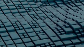 Abstract Surface Wave, 3d Animation 4k stock illustration