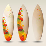 Abstract Surfboards Design Vectors Stock Image
