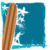 Abstract surfing vector Royalty Free Stock Photography
