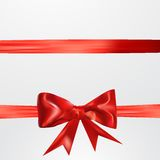 Abstract surprice background with bow. Eps 10 vector illustration Royalty Free Stock Photos