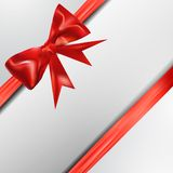 Abstract surprice background with bow Royalty Free Stock Images