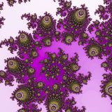 Violet and purple swirl fractal pattern vector illustration