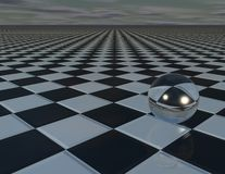 Abstract surreal background with chessboard Royalty Free Stock Image