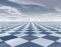 Abstract surreal background with chessboarda Royalty Free Stock Photo
