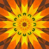 Abstract surreal background /  surreal kaleidoscope sun flower Stock Image