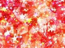 Abstract surreal stars and crystal backgrounds. Abstract surreal stars and crystal background Stock Image