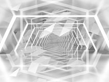 Abstract surreal tunnel background with 3d polygon pattern royalty free illustration