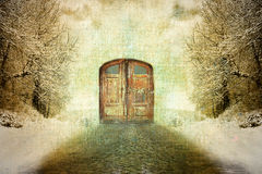 Abstract surrealism vintage winter motive Stock Photos