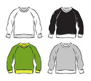 Abstract sweatshirts set sketch for your design royalty free illustration