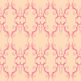 Abstract Sweet Seamless Pattern. A sweet and curly seamless pattern in cute pink and peach colors Vector Illustration