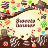 Abstract sweets banner Stock Photography