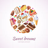 Abstract sweets vector background Royalty Free Stock Image