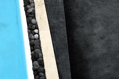 Abstract swimming pool image. An abstract view of the side of a swimming pool Stock Image