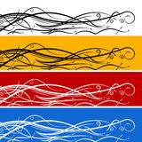 Abstract Swirl Arrow Banner Set Stock Image