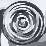 Abstract swirl background - black and white colored. Abstract modern swirl background - black and white colored Royalty Free Stock Photography
