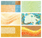 Abstract swirl background business cards. Set. Vector illustration, design elements royalty free illustration
