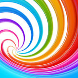 Abstract swirl background made of twirls. Abstract swirl rainbow background made of glossy twirls Royalty Free Stock Photography